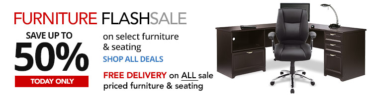 24HR Flash Sale- Save up to 50% on select Furniture & Seating Today Only-Plus FREE Delivery