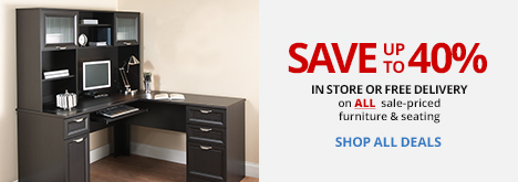 Save up to 40% on furniture and seating