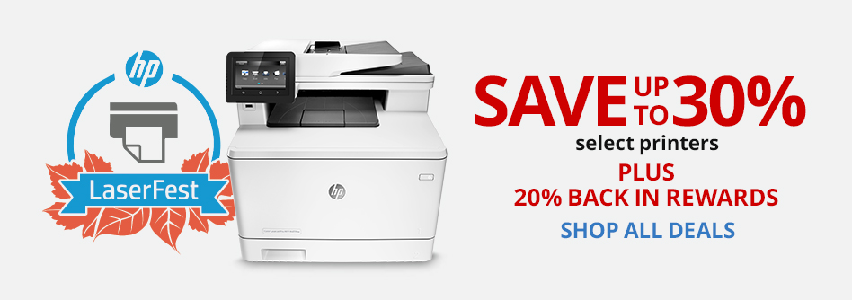 Save up to 30% on select Printers PLUS 20% back in rewards (1)