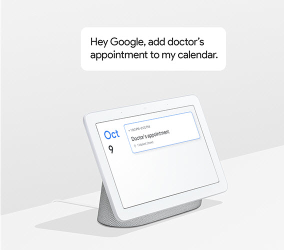 google home hub doctors appointment