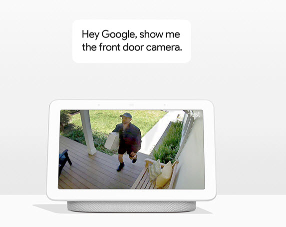 google home hub front door