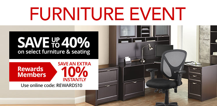Furniture Event- Save Up To 40% on Select Furniture PLUS Rewards Members Save an Extra 10% Instantly- Use Code: REWARDS10