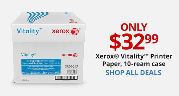 $32.99 Xerox Vitality Printer Paper, 10 Ream Case