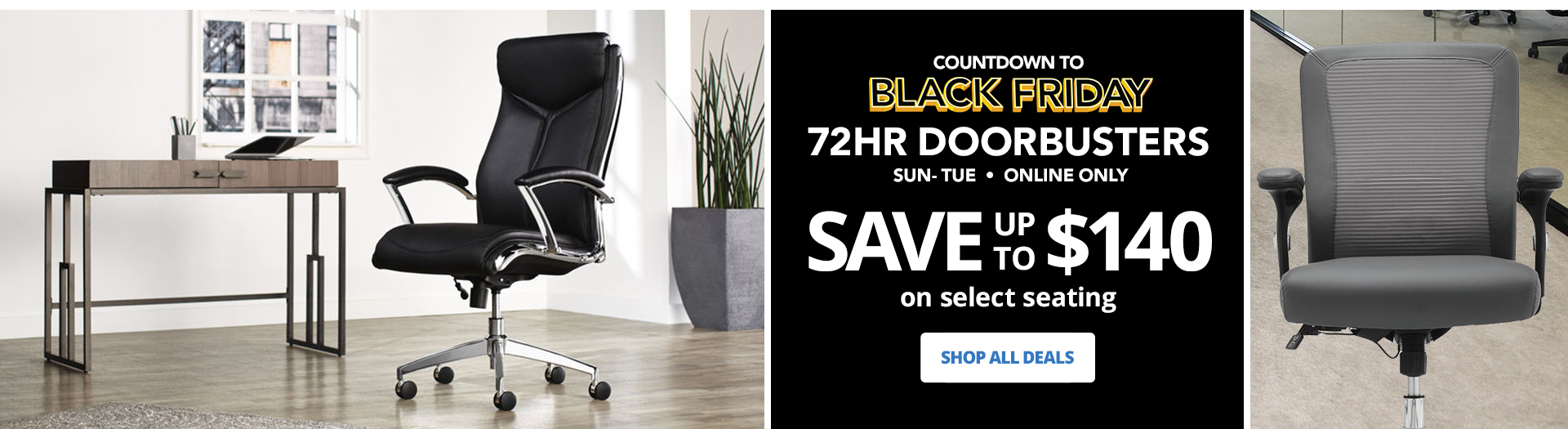Black Friday 72HR Doorbusters Save 50% On Select Seating