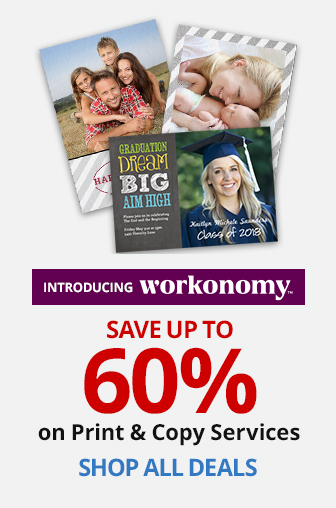Save Up To 50% on Print & Copy Services Introducing Workonomy