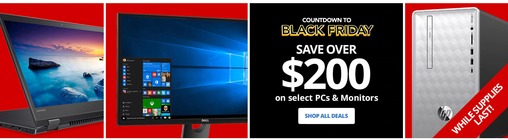 Save Over 200 On Select PCs & Monitors