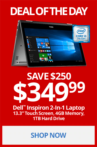 Deal Of The Day- Dell Inspiron 2-in-1 Laptop Only $399.99