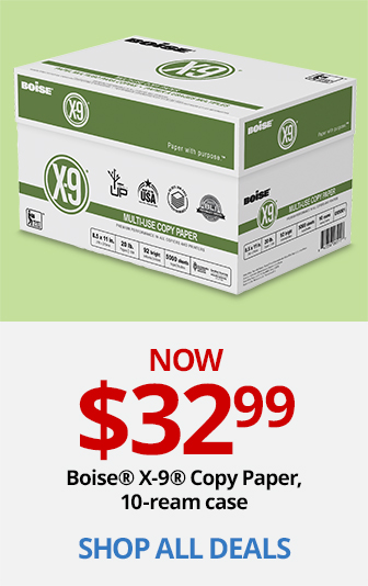 Boise X-9 Copy Paper 10 Ream Case Only $32.99