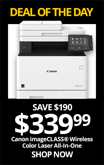 SAT- Canon imageCLASS® MF733Cdw Wireless Color Laser All-In-One Printer. Reg $529.99, Save $190, Now $339.99