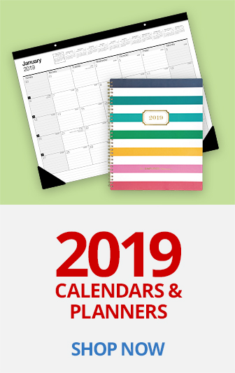 2019 Calendars and Planners