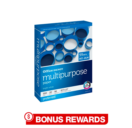 50% Back in Rewards Office Depot Multi Purpose Ream. In store and online. Limit 2
