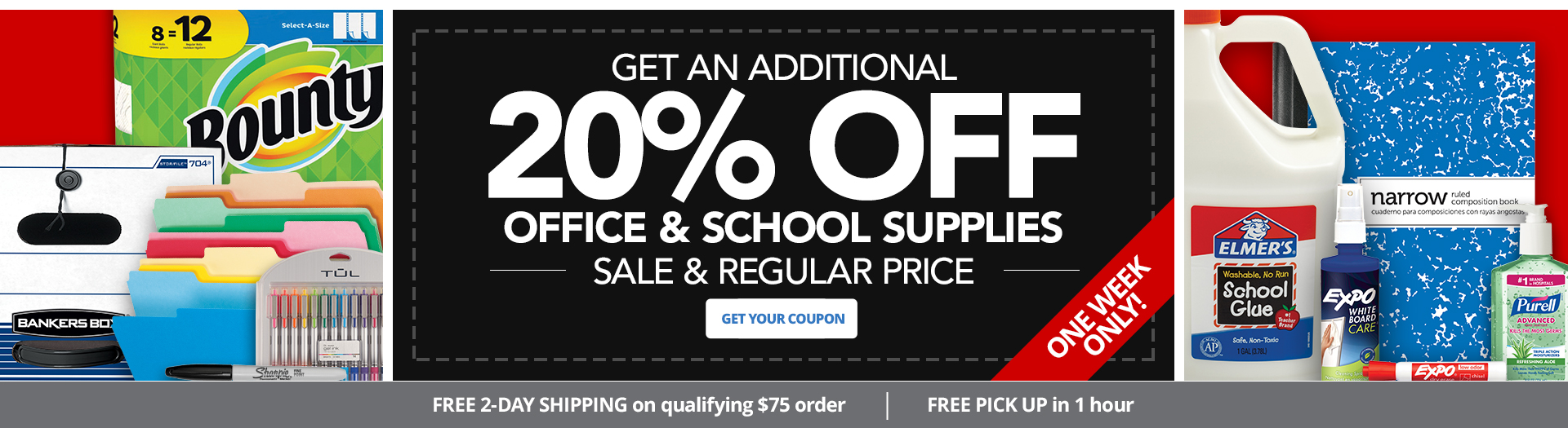 20% Off Office & School Suplies