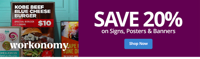 Save 20% On Select Signs Print and Copy