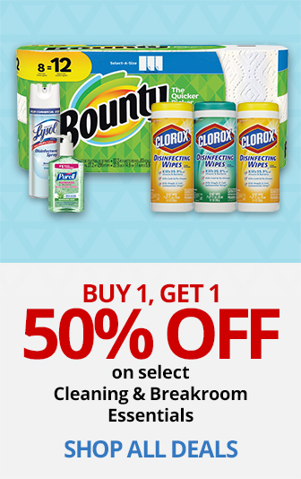 BOGO 50% Off Cleaning & Breakroom essentials