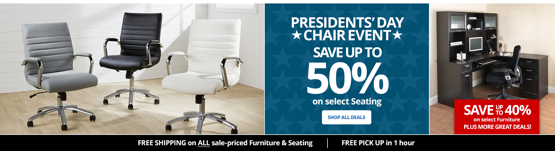 BIGGEST CHAIR EVENT and 72HR Doorbusters Save up to 50% on select Furniture & Seating