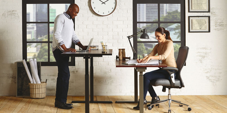 Realspace® Magellan Manual Height Adjustable Desk