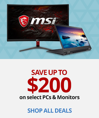 Save up to $200 on select PCs & Monitors