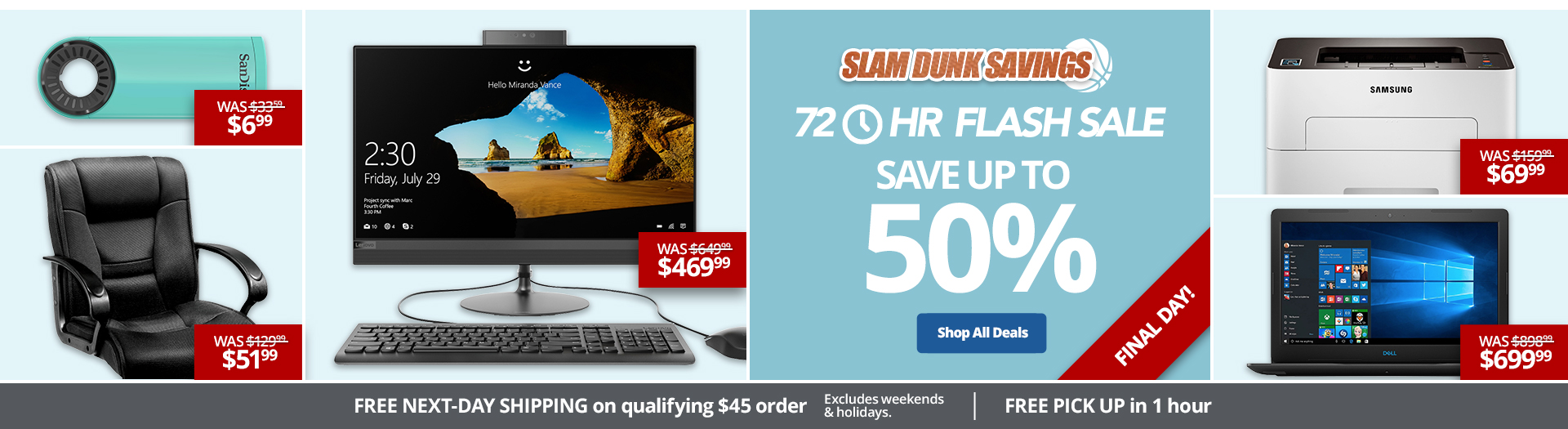 Slam Dunk Savings! | Save up to 50% | Final Day!