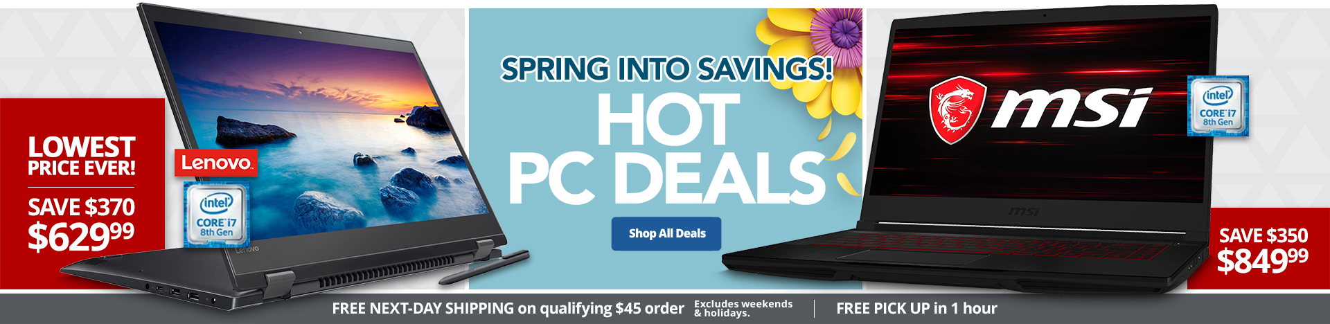 Spring Into Savings Hot PC Deals