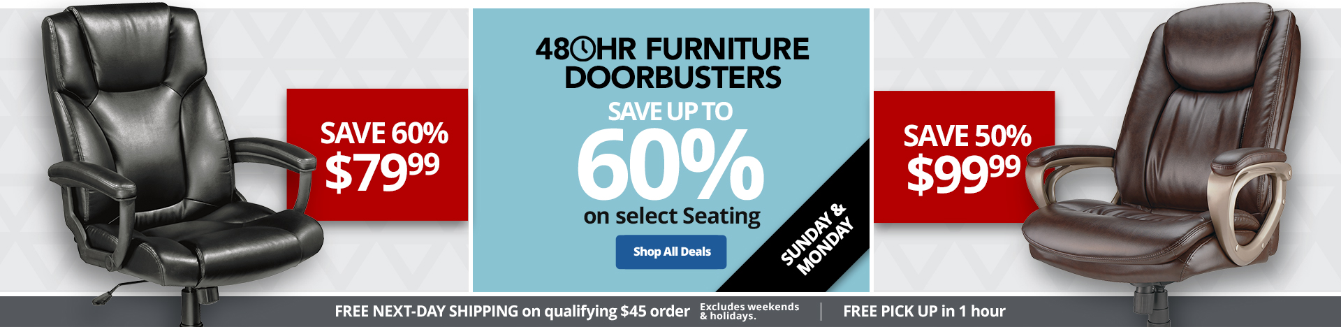 Save Up To 60% On Select Seating