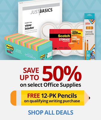 Save up to XX% select Office Supplies