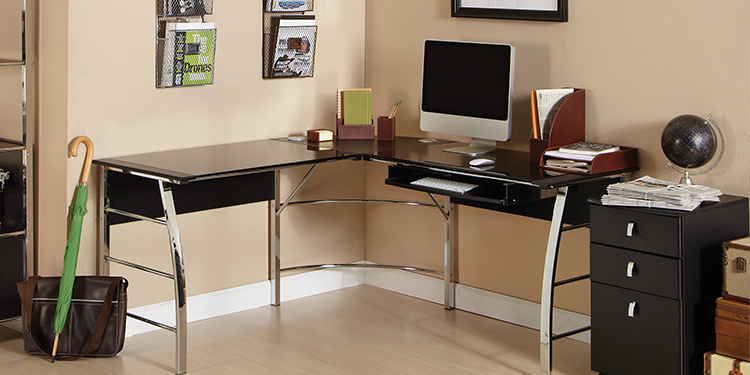 Realspace Mezza L-Shaped Computer Desk