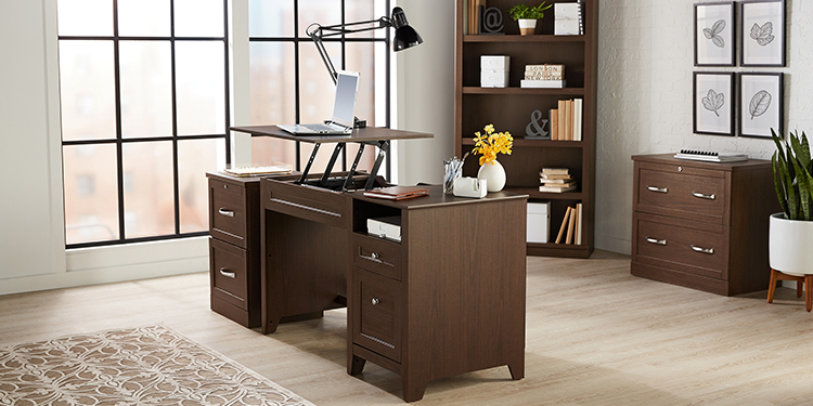 Realspace Premium Manual Height Adjustable Lift Desk