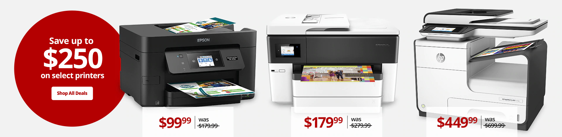 Save over $180 on select printers