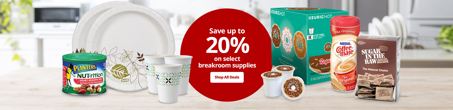 Save Up To 20% On These Breakroom Products