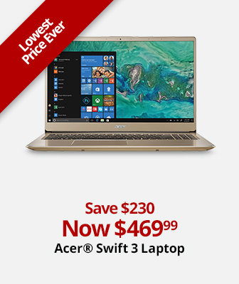 Acer Swift 3 Laptop Now $469.99