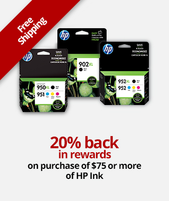20% Back I Rewards On Purchase Of $75 or more of HP Ink