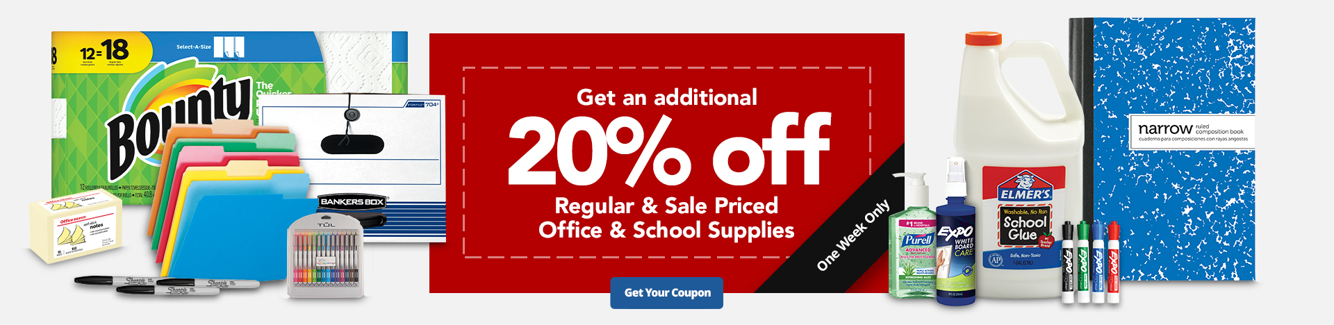 Get An Additional 20% Off Office & School Supplies