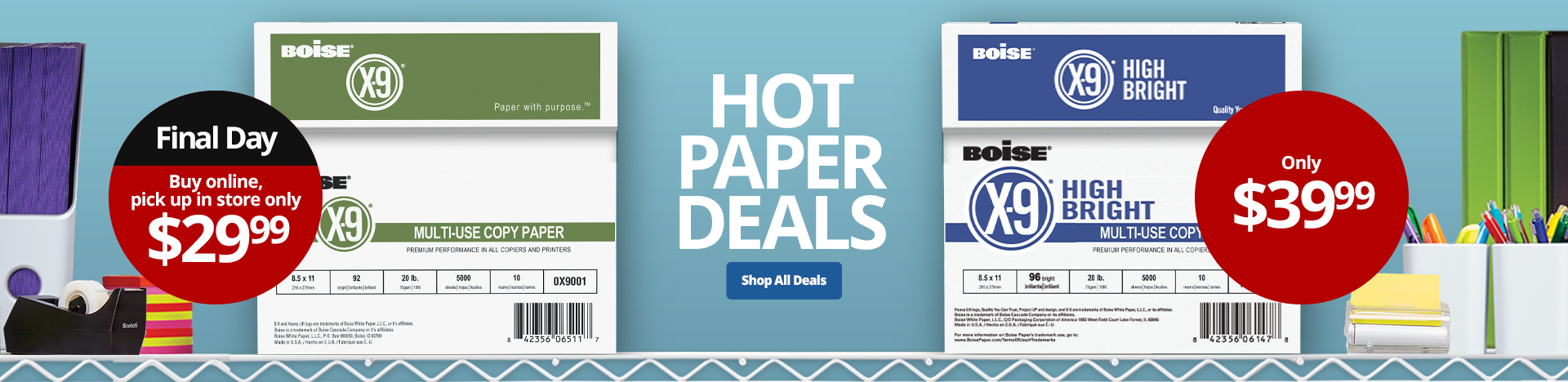 Paper For All Your Needs - Buy Online Pick Up In Store Boise X-9 Copy Paper, 10 Ream Case Now $29.99