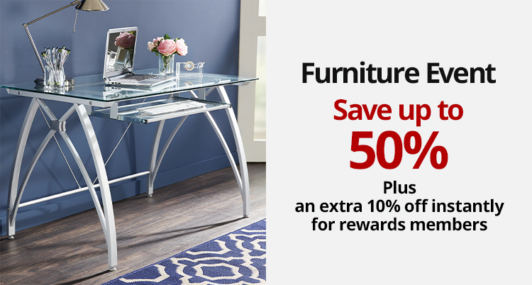 Save up to 50% on select Furniture PLUS Rewards Members save an extra 10% instantly. Use online code- REWARDS10