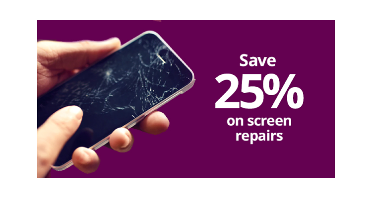 Save 25% on Screen Repairs
