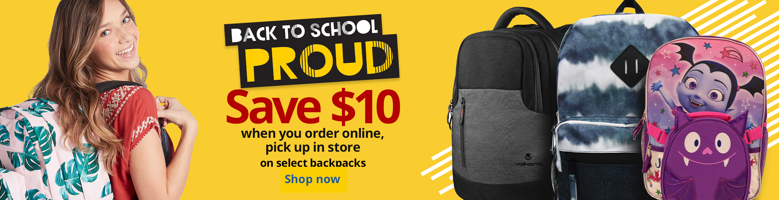 Save $10 When You Order Online, Pick Up In Store on Select Backpacks