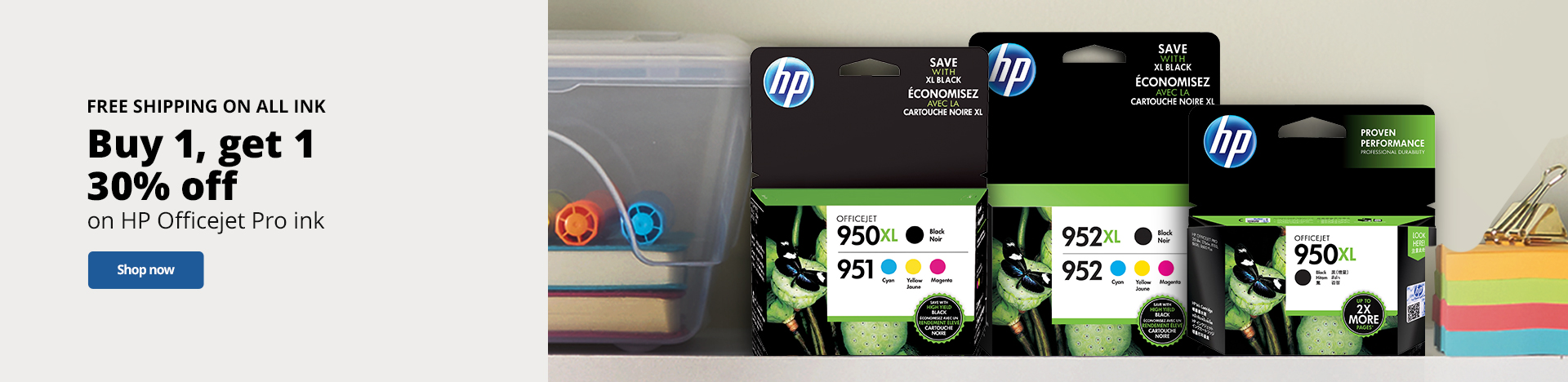 Buy One Get One 30% Off HP Officejet Pro Ink