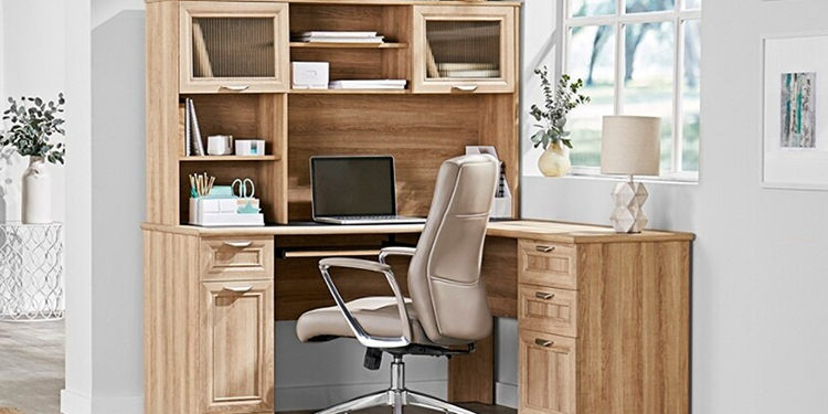 Realspace® Magellan Collection L-Shaped Desk & Hutch