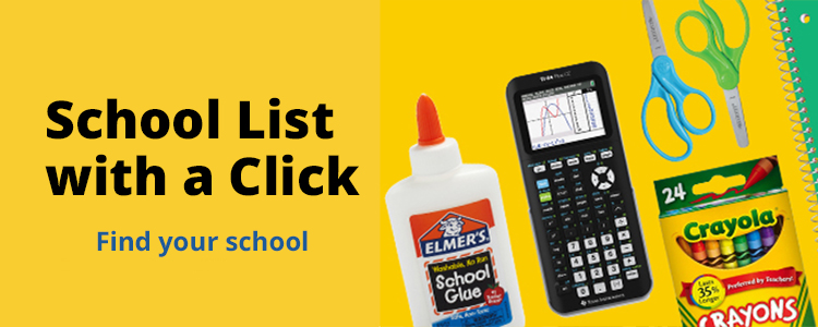 School Supply List Made Easy