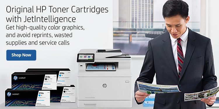 Original HP Toner Cartridges with JetIntelligence