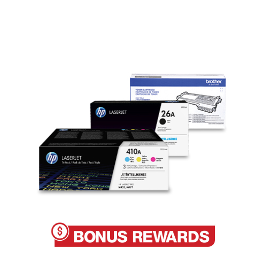 2 HP-Samsung Toners rewards back