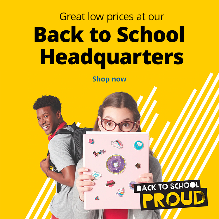 Great Low prices at our Back to School Headquarters