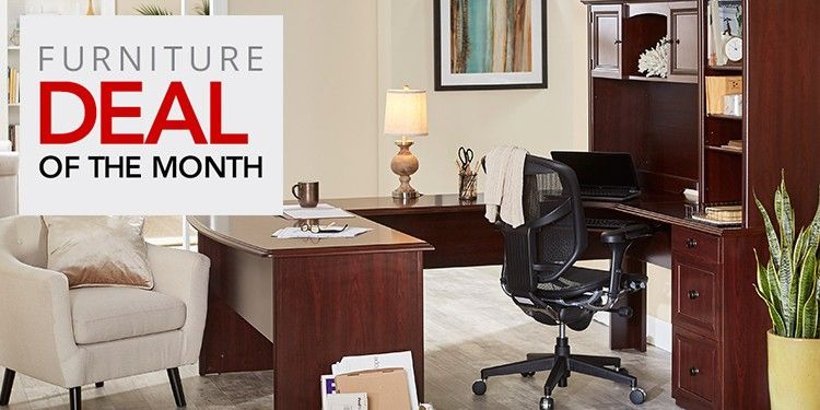 Realspace® Broadstreet U-Shaped Executive Desk