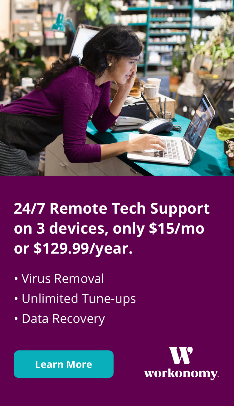 24/7 Remote Tech Support on 3 devices, only $15/month or $129.99/year