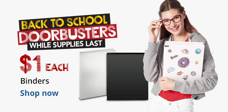 Back To School Doorbusters - While Supplies Last - $1 Each Binders