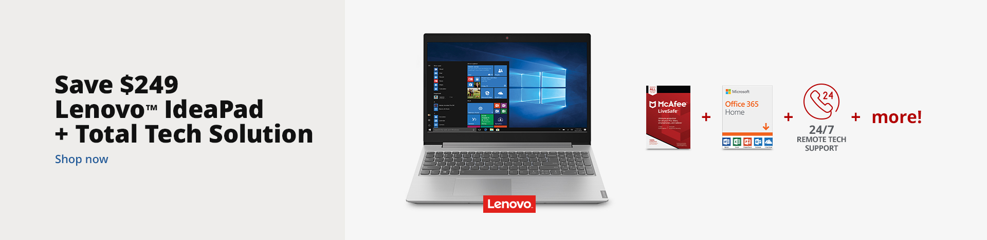 Save $249 on Lenovo IdeaPad + Total Tech Solution