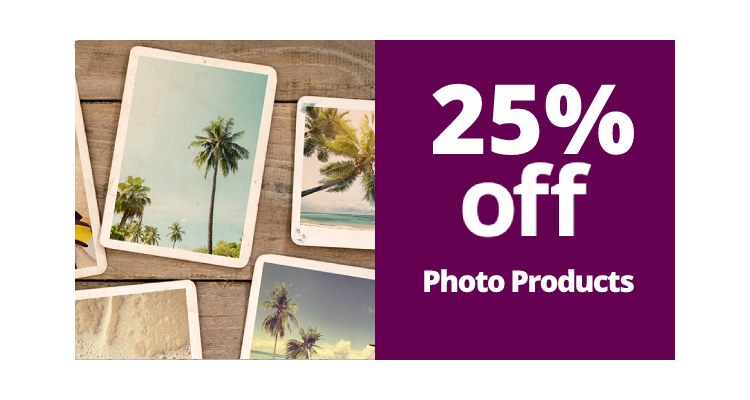 25% Off Photo Products