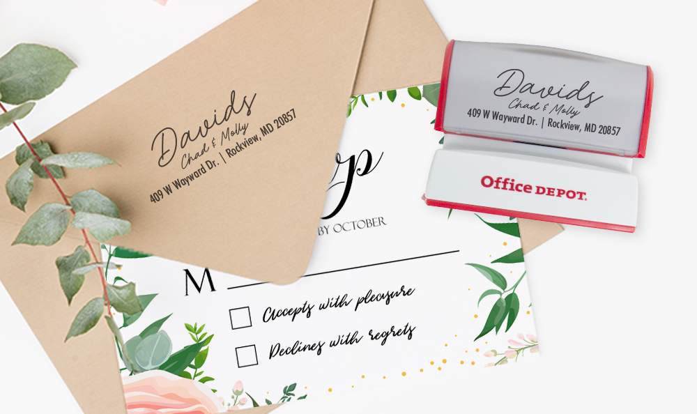 Buy Custom Stamps Office Depot Officemax