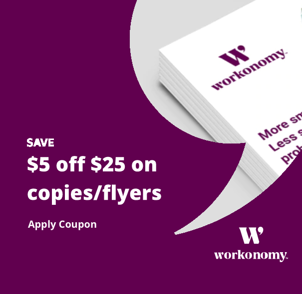 $5 off $25 on Copies:Flyers mobile
