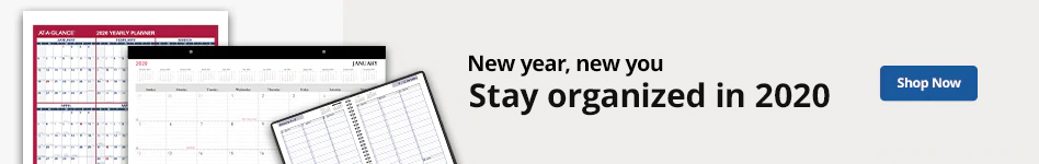 New Year, New You | Stay organized